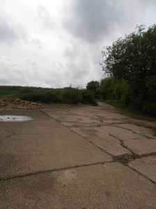 Track leading to WW2 the old bomb store - Rattlesden Airfield
