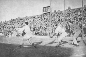 The Brooklyn Dodgers and St, Louis Cardinals at Luton Town FC. Image courtesy of the Luton News archive.