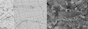 Before and After - Shipdham Airfield (Image courtesy of Norfolk Historic Maps)