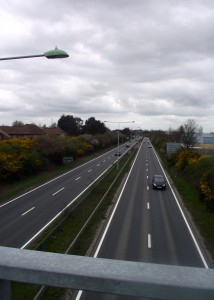 The A12 now cuts clean across what was one of the runways at Martlesham.