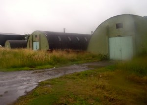 Romney Huts at the maintenance workshops.