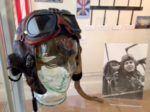 The flying helmet of Lt. Alden E Smith.