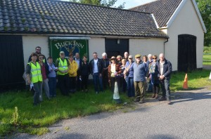 The group outside the Buck Inn, Flixton