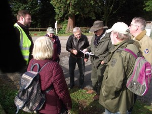 Discussing the archaeology of Bushey Hall