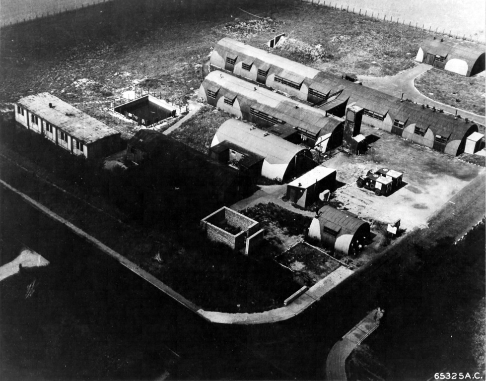 Aerial view of Sick Quarters