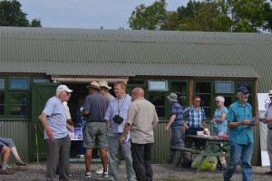 Refreshments back at the new Nissen Hut.