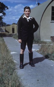 Peter Brame - a local boy who did laundry for the 95th Bomb Group. (FRE 5854)